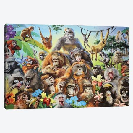 "Monkeyshines Canvas Print #RSR412} by D. ""Rusty"" Rust Canvas Art"