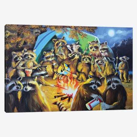 "The Dog Canvas Print #RSR417} by D. ""Rusty"" Rust Art Print"