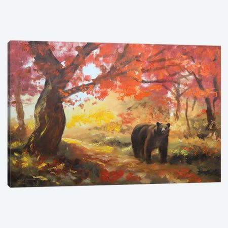"Black Bear Canvas Print #RSR6} by D. ""Rusty"" Rust Canvas Artwork"