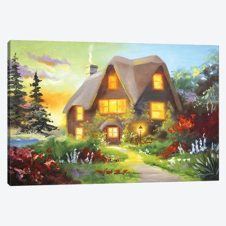 """Cabin In The Country Canvas Print #RSR84} by D. """"Rusty"""" Rust Canvas Print"""
