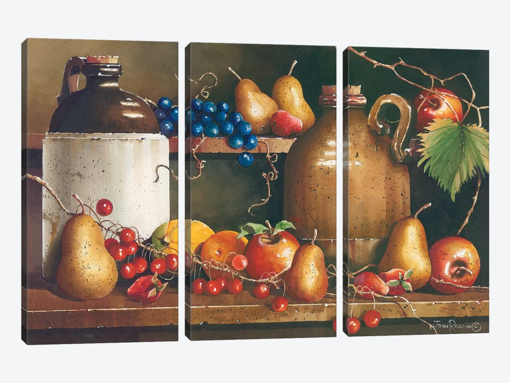 A Passion for Fruit by John Rossini 3-piece Canvas Artwork