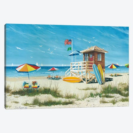Beach Colors Canvas Print #RSS1} by John Rossini Canvas Artwork