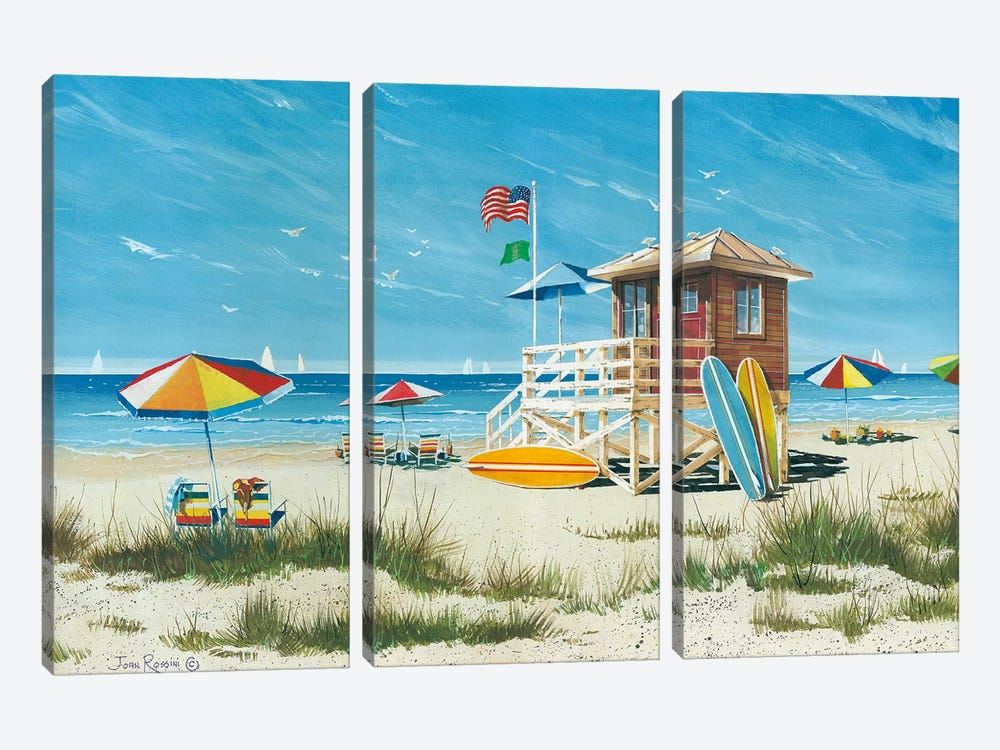Beach Colors by John Rossini 3-piece Canvas Art