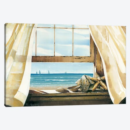 Beach Treasures Canvas Print #RSS2} by John Rossini Canvas Art