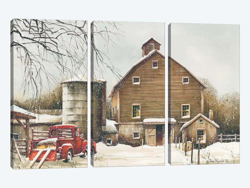 Clearing Out by John Rossini 3-piece Canvas Wall Art