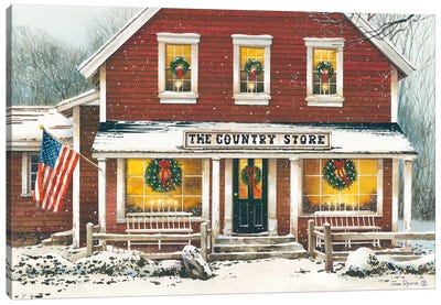 Country Christmas Canvas Art Print