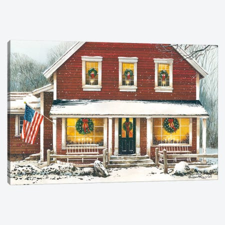 Country Christmas Canvas Print #RSS6} by John Rossini Canvas Art Print