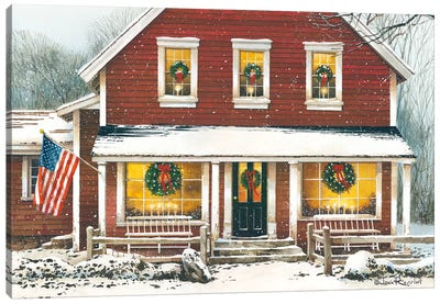 Country Christmas Canvas Art Print