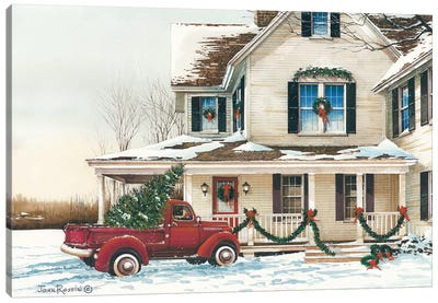 Preparing for Christmas Canvas Art Print