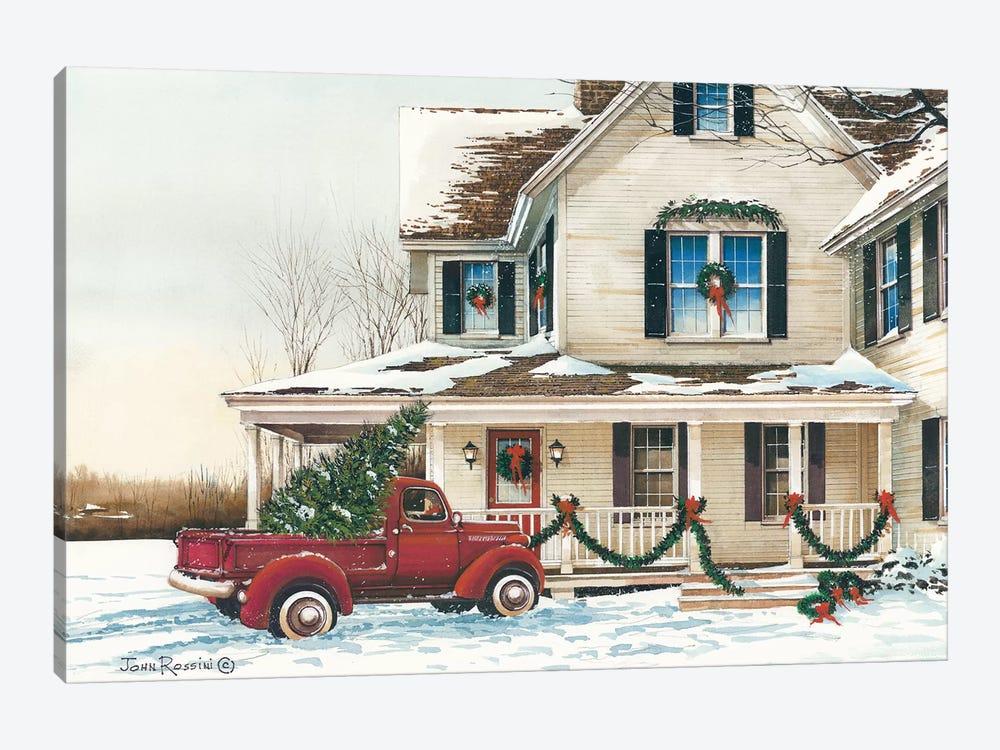 Preparing for Christmas by John Rossini 1-piece Canvas Artwork
