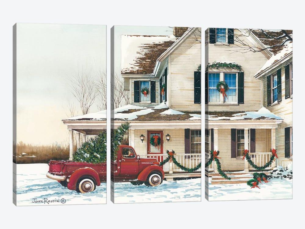 Preparing for Christmas by John Rossini 3-piece Canvas Artwork