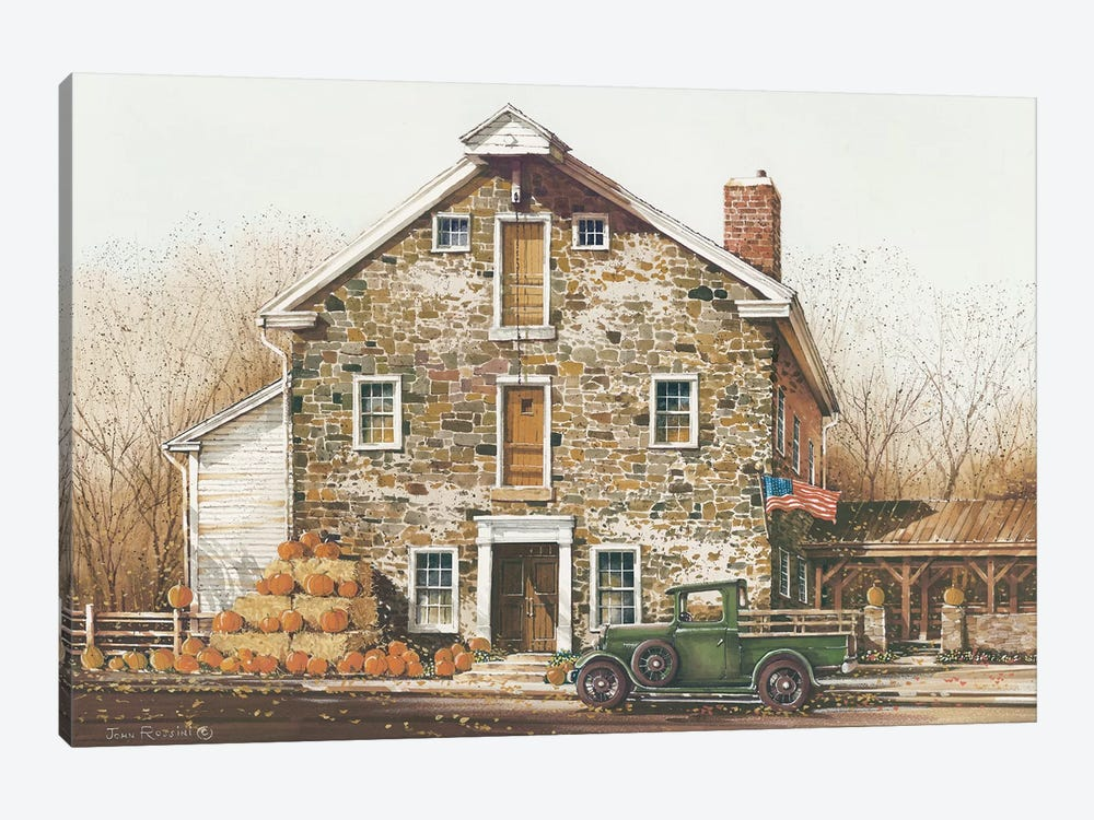 Fall Is In The Air by John Rossini 1-piece Canvas Art Print