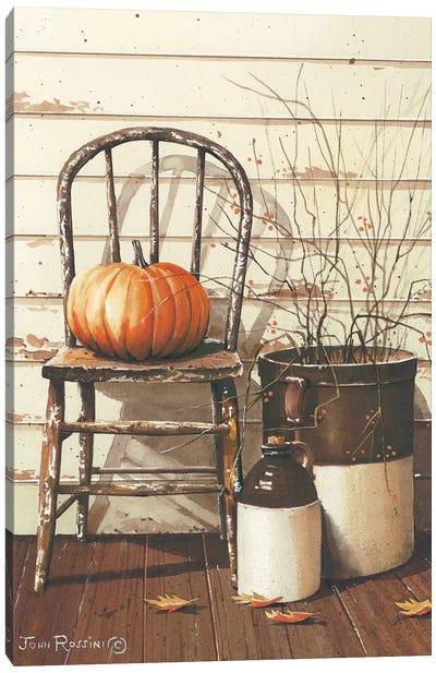 Pumpkin & Chair Canvas Art Print