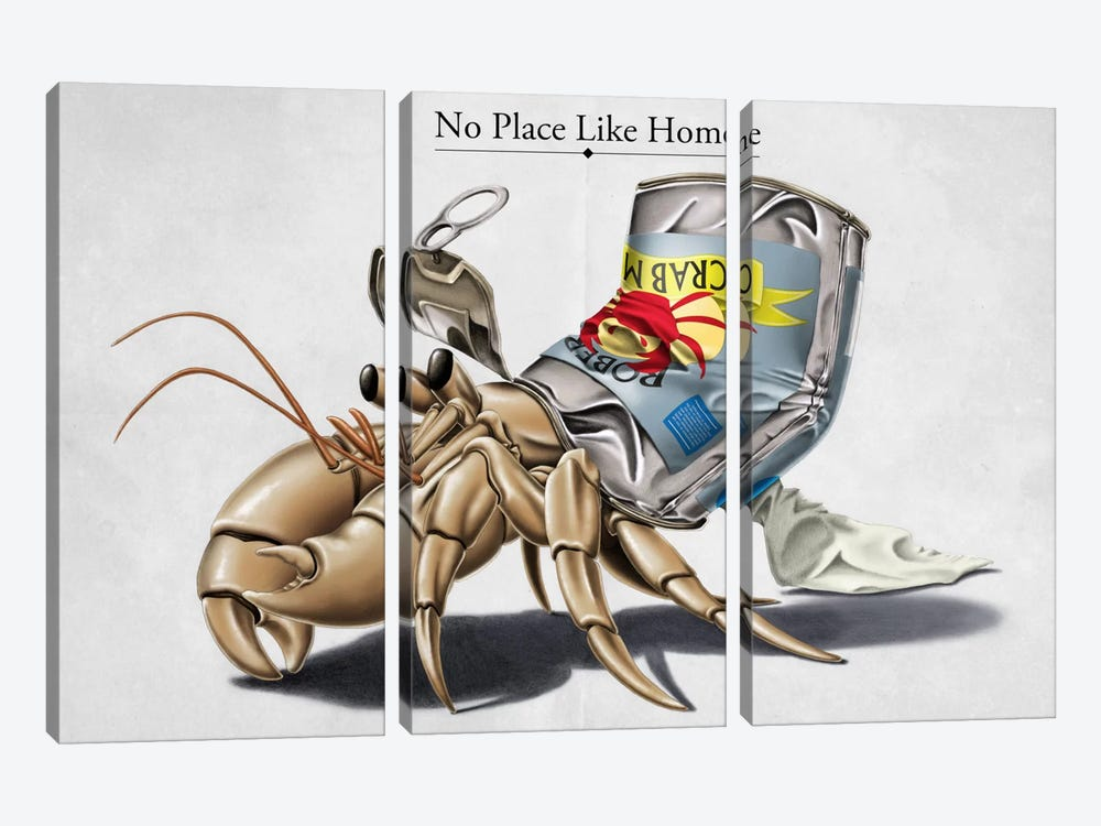 No Place Like Home by Rob Snow 3-piece Canvas Print