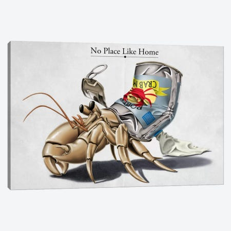 No Place Like Home Canvas Print #RSW101} by Rob Snow Canvas Art