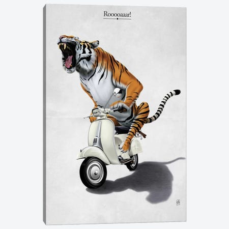 Rooooaaar! I Canvas Print #RSW106} by Rob Snow Canvas Print