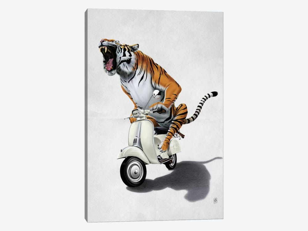 Rooooaaar! II by Rob Snow 1-piece Canvas Print
