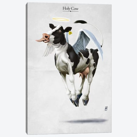 Holy Cow Canvas Print #RSW116} by Rob Snow Canvas Art