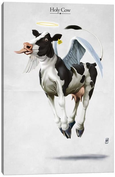 Holy Cow Canvas Print #RSW116