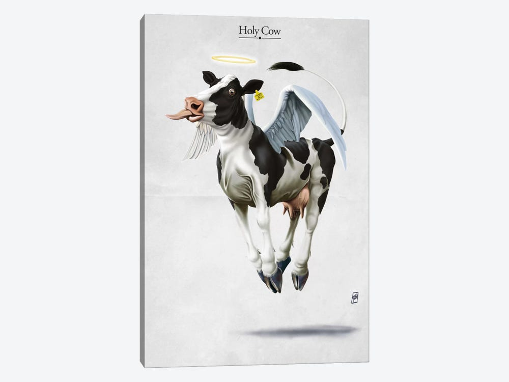 Holy Cow by Rob Snow 1-piece Canvas Print