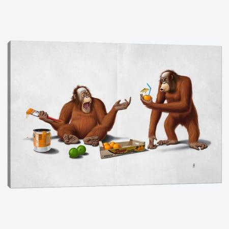 Orange Man III Canvas Print #RSW117} by Rob Snow Canvas Art