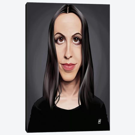 Alanis Morissette Canvas Print #RSW119} by Rob Snow Canvas Print