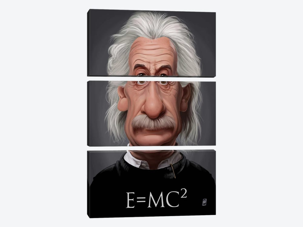 Albert Einstein (E=MC2) by Rob Snow 3-piece Canvas Print