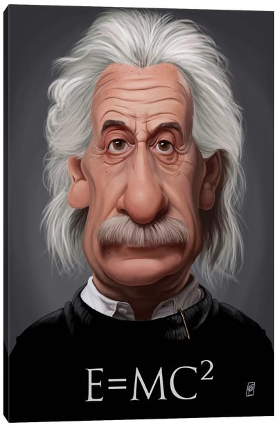 Celebrity Sunday Series: Albert Einstein (E=MC2) Canvas Print #RSW121