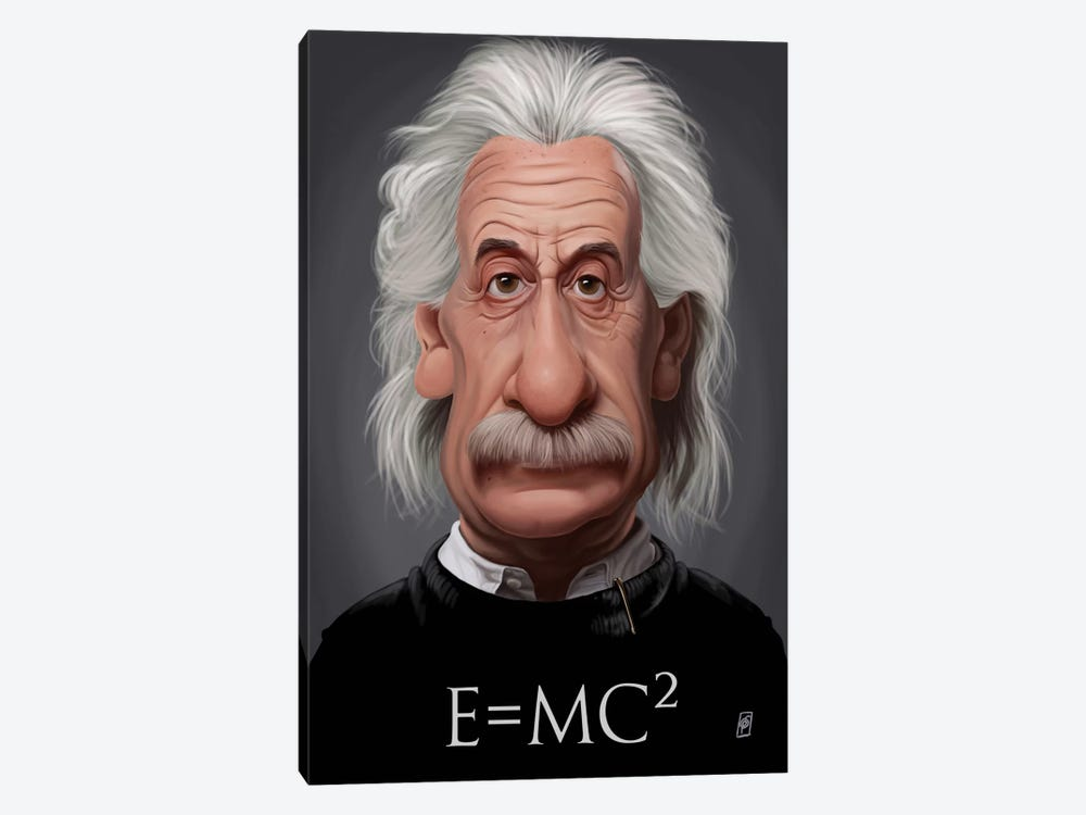 Albert Einstein (E=MC2) by Rob Snow 1-piece Art Print