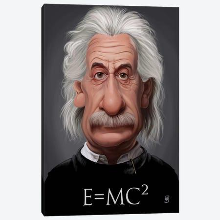 Albert Einstein (E=MC2) Canvas Print #RSW121} by Rob Snow Canvas Wall Art