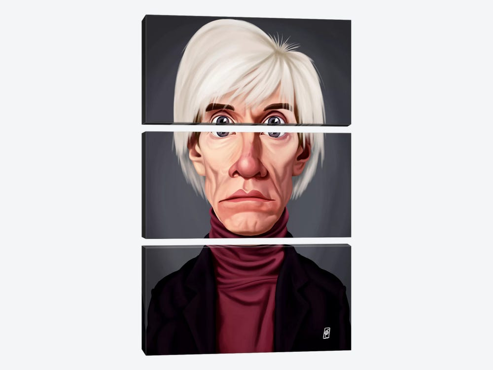 Celebrity Sunday Series: Andy Warhol by Rob Snow 3-piece Art Print