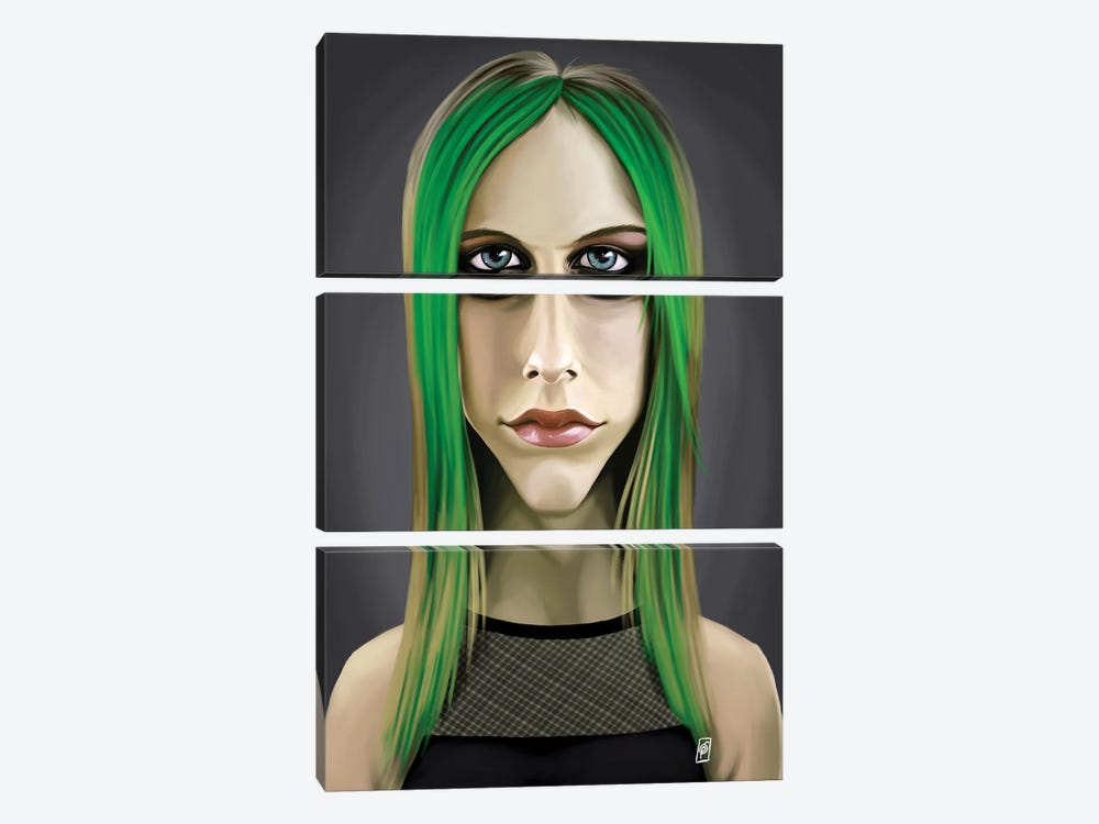 Avril Lavigne by Rob Snow 3-piece Art Print
