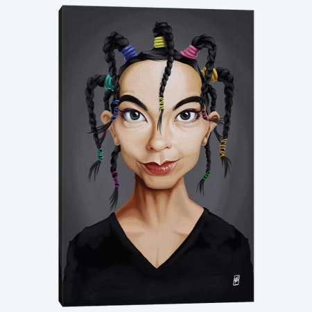 Celebrity Sunday Series: Björk Canvas Print #RSW127} by Rob Snow Canvas Print