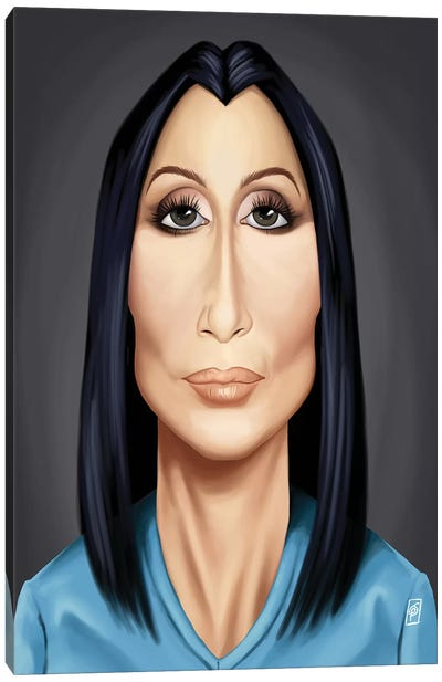 Celebrity Sunday Series: Cher Canvas Print #RSW132