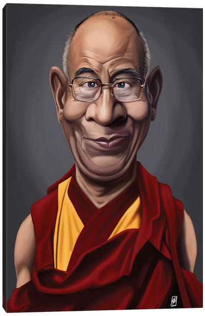 Celebrity Sunday Series: Dalai Lama Canvas Print #RSW133