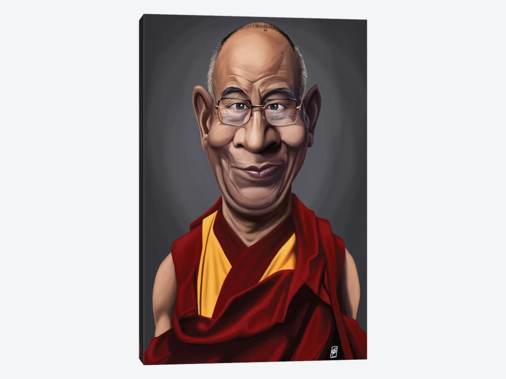 Celebrity Sunday Series: Dalai Lama by Rob Snow 1-piece Canvas Art