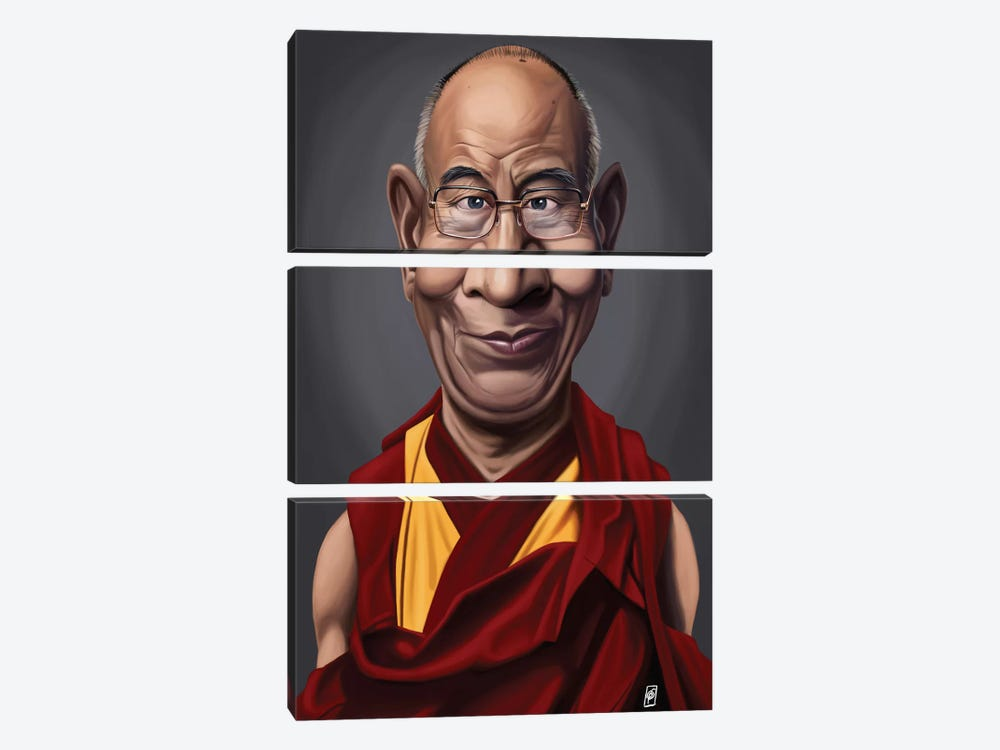 Celebrity Sunday Series: Dalai Lama 3-piece Canvas Artwork