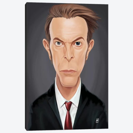 David Bowie Canvas Print #RSW135} by Rob Snow Canvas Artwork