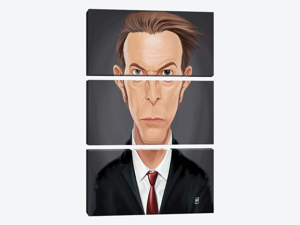 David Bowie by Rob Snow 3-piece Canvas Art