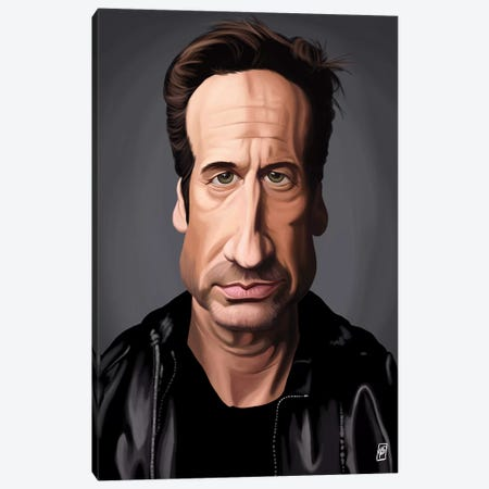 David Duchovny Canvas Print #RSW136} by Rob Snow Canvas Art