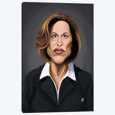 Gillian Anderson Canvas Print #RSW138} by Rob Snow Art Print