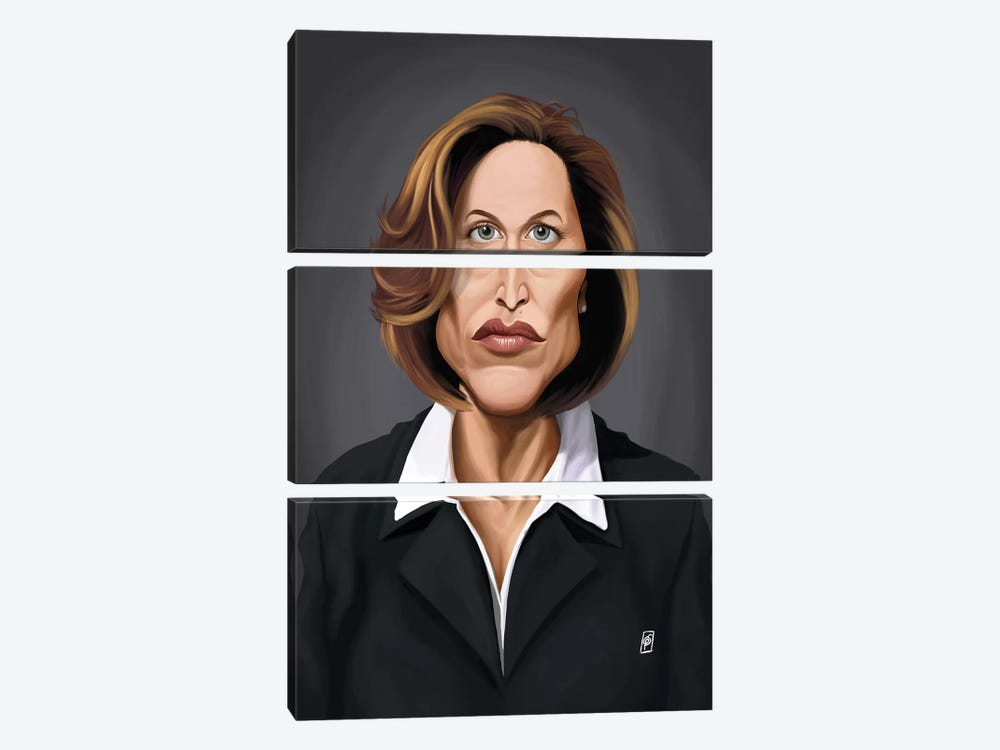 Gillian Anderson by Rob Snow 3-piece Art Print