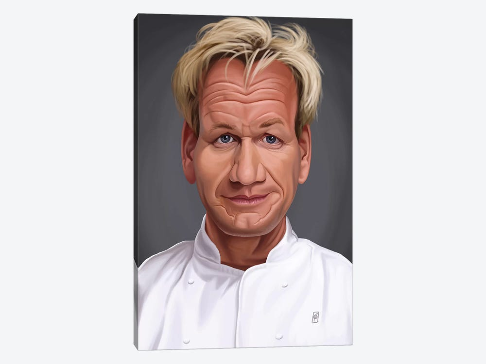 Gordon Ramsey by Rob Snow 1-piece Canvas Art