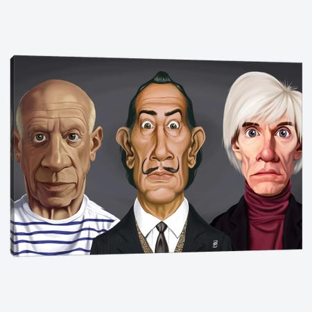 Great Artists (Dali, Picasso, Warhol) Canvas Print #RSW140} by Rob Snow Canvas Art