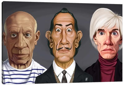 Great Artists (Dali, Picasso, Warhol) Canvas Art Print