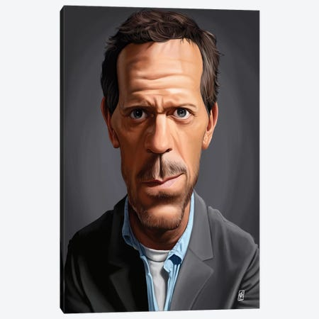 Hugh Laurie Canvas Print #RSW141} by Rob Snow Canvas Art