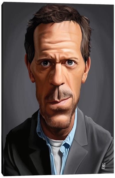 Hugh Laurie Canvas Art Print