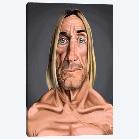 Iggy Pop Canvas Print #RSW142} by Rob Snow Canvas Art