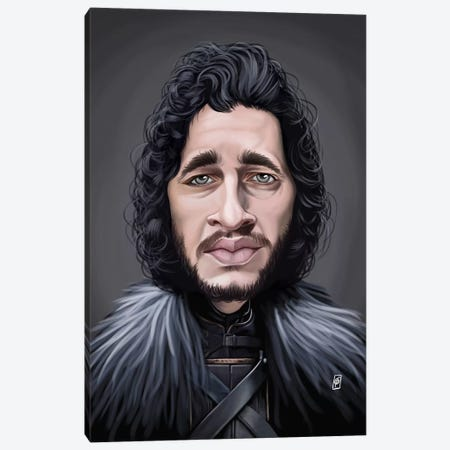 Kit Harington Canvas Print #RSW147} by Rob Snow Canvas Print