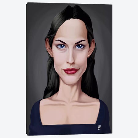 Liv Tyler Canvas Print #RSW148} by Rob Snow Canvas Artwork